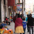Stock Photo: People in street of LPaz, Bolivia