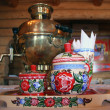 Russian tea drinking with samovar — Stock Photo #39783919