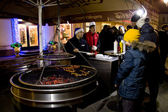 Street food in Moscow — Stock Photo