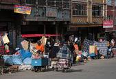 Street market in the center of La Paz, Bolivia — Stok fotoğraf