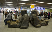 Rest zone in Amsterdam Schiphol Airport — Stock Photo
