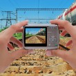 Photographing train — Stock Photo