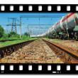 Train transports tanks - Stock Photo
