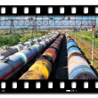 Train transports oil - Foto Stock