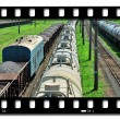 Stock Photo: Freight train cars