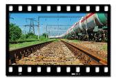 Train transports tanks — Stock Photo