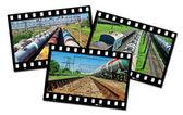 Frames train — Stock Photo