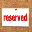 Reserved — Stock Photo