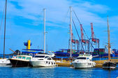 Yachts in port — Stock Photo