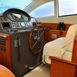 Stock Photo: Steering wheel yacht