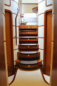 Ladder of luxury yacht — ストック写真