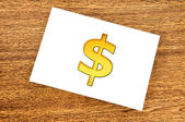 Símbolo de dólar de nota — Foto de Stock
