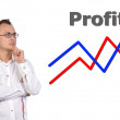 Chart profit, business concept — Stock Photo