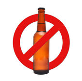 Sign stop alcohol — Stock Photo