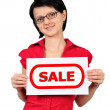 Placard sale — Stock Photo