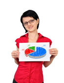 Poster with pie chart — Stock Photo