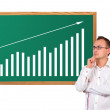 Growth chart on desk — Stock Photo #15073969
