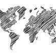 Drawing world map — Stock Photo #15634025