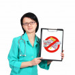 Doctor with clipboard — Stock Photo #16633261