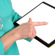 Tablet in hand — Stock Photo #16633271