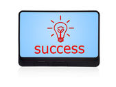Success on digital tablet — Stock Photo