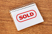 Drawing sold — Stock Photo