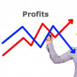 Drawing graph — Stock Photo #17352549