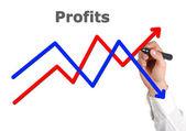 Drawing profit — 图库照片