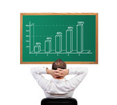 Growth chart on desk — Stock Photo