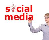 Meios de comunicação social escrita — Fotografia Stock