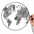 Drawing earth — Stock Photo