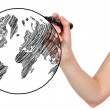 Stock Photo: Drawing earth