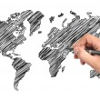 Hand drawing map — Stock Photo
