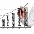 Drawing growth of chart — Foto Stock