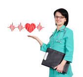 Heart with pulse — Stock Photo