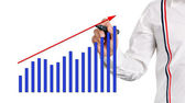 Drawing profit growth — Stock Photo