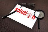 Solution symbol — Stock Photo