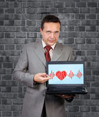 Heartbeat on screen — Stock Photo