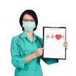 Nurse with clipboard — Stok Fotoğraf #19542195