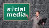 Social-media — Stockfoto