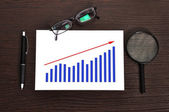 Growth chart on paper — Stock Photo