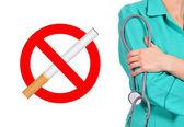 Símbolo de no fumar — Foto de Stock