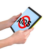 Touchpad with no aids symbol — Stock Photo