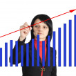 Woman drawing a graph — Stock Photo #20562879