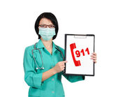Doctor with clipboard — Stock Photo
