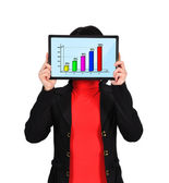 Touch pad with chart — Stock Photo