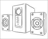 Computer speakers — Stock Vector