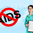 Stop aids sign — Stock Photo