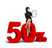 50 percent symbol — Stock Photo