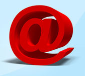 Röd e-symbol — Stockfoto